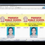 CorelDraw in Hindi: How to print School I-Cards / Visiting Card on A4 Sheet in CorelDraw