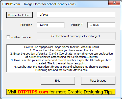 Image Placer tool Macro for CorelDraw