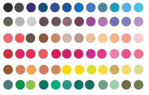 Swatch Palettes for Indesign - Aqua Colour Palette
