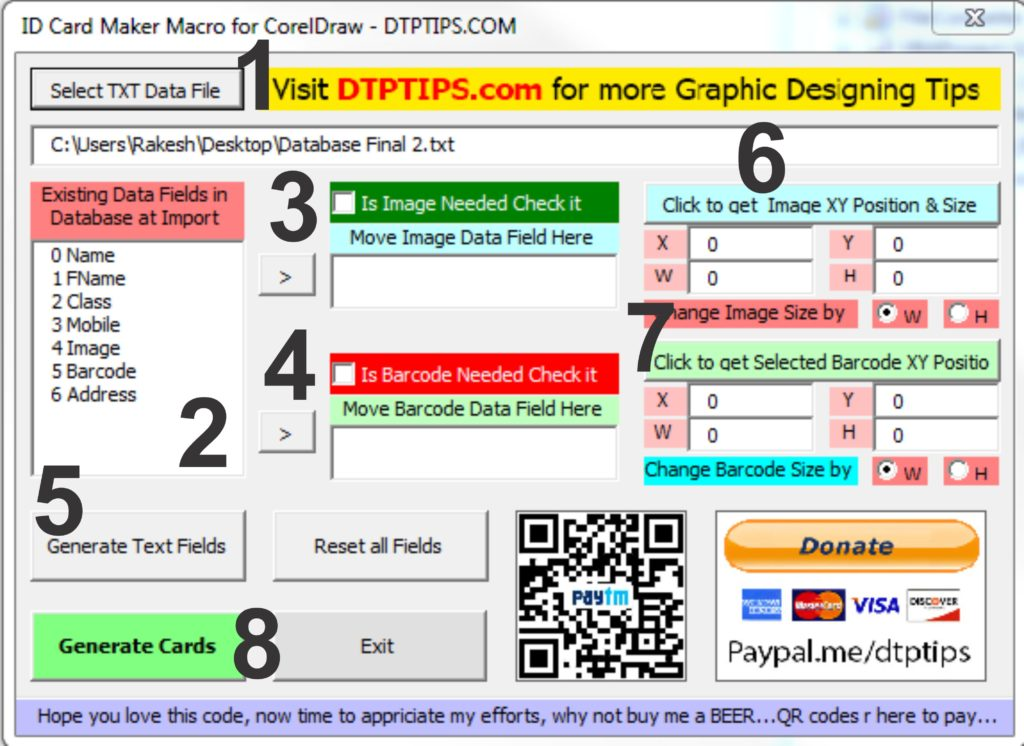 School Id Card Maker - Tools Explanation