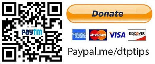 Paytm Donate DTPTIPS.com