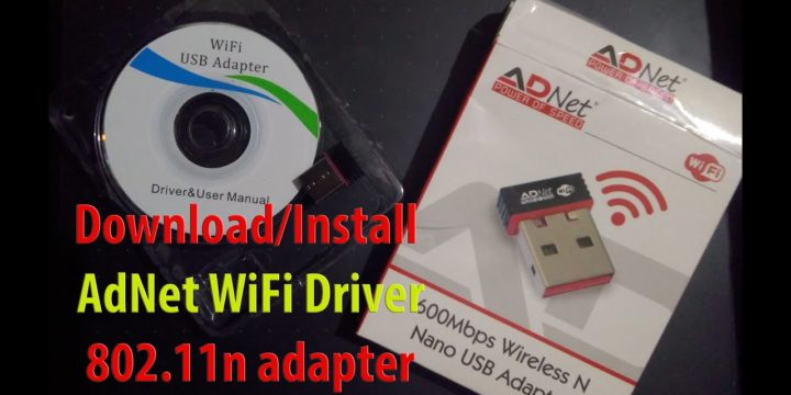 Download / Install Driver for ADNet WiFi Wireless N Nano USB Adapter