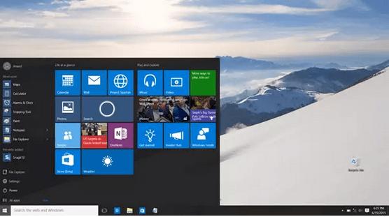 Windows 10 Desktop Home Screen
