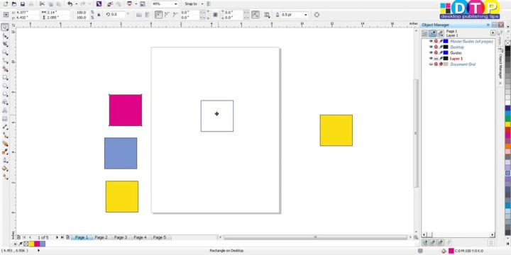 Objects outside the page border not displayed on different pages: CorelDraw Problem