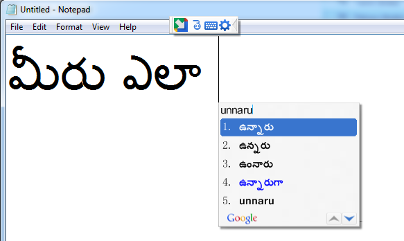 How to install Google Input Tools For Telugu Language – Phonetic Typing